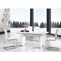 China Extendable Modern Dining Table Furniture With Lacquer Painting Anti Bacterium wholesale