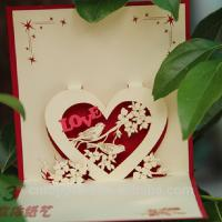 China Decorative Paper Greeting Cards , Artificial Style Gift Invitation Cards wholesale