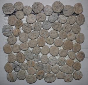 China white quartz Rounded pebble Mosaic 305 mm * 305 mm * 10mm wholesale