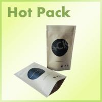 China Custom Printed Kraft Paper Stand Up Pouches For Coffee Bean / Protein Powder wholesale