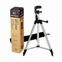 China Compact Camera Tripod, Made of Aluminum and Plastic, with 390mm Minimum Operating Height wholesale