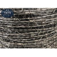 China Hot Dipped Security Barbed Wire BWG14x14  Diameter Razor Barbed Tape on sale