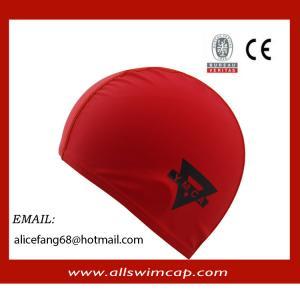China Adult lycra swimming cap with custom logo wholesale
