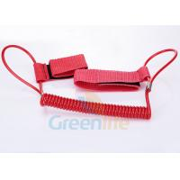 China 1.5M Long Quality Red Plastic Spring Coil Fishing Lanyard With  Strap 2pcs wholesale