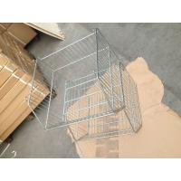 China 20L Basket Supermarket Equipment Zinc Plated Cage With Clear Lacquer wholesale
