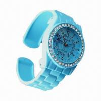 China Jewelry Bracelet Bangle Watch with Stone Cover, Alloy Case, Japan Movement, Waterproof 3ATM wholesale
