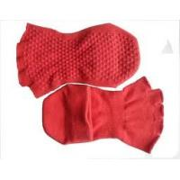 China Comfortable Breathable Ladies Red Open Toe Non-slip Socks With Grip for Yoga and Pilates wholesale