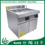 China fryer electric deep fryers/commercial induction deep fryer/2 tank 4 basket deep fryer wholesale