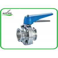 China Multiple Position Sanitary Manual Butterfly Valves with Plastic Gripper Handle wholesale