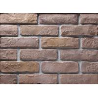 China Decoration Wall Thin Veneer Brick , Antique Texture Fire Clay Bricks For Building wholesale