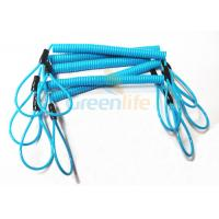 China Hot Fashion Peacock Blue Elasticated Spring Tool Tether With Double Loop Ends wholesale