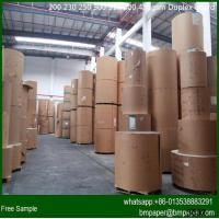 China one side white clay coated duplex paper cardboard with grey back wholesale