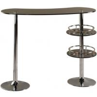China European Glass Outdoor Pub Table Tall Fashionable With 2 Metal Legs wholesale