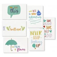 China 6 Types Unique Holiday Cards / Inspiring Motivational Cards With Envelopes wholesale