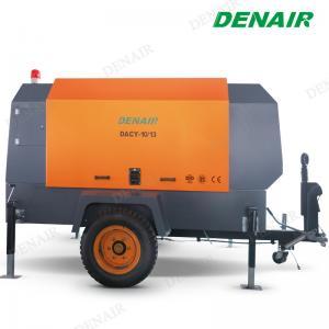 China 265 Cfm Diesel Oil Gas Mobile Screw Air Compressor for Sandblaster on sale