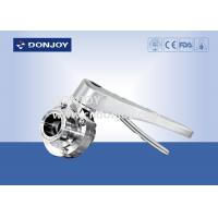 China Manual clamped sanitary buttterfly valves with stainless steel handle wholesale