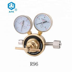China Brass Psiton Type Flow Regulator Valve , Two Gauge Air Pressure Valve wholesale