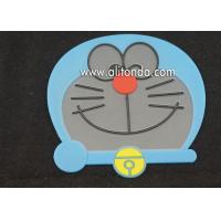 China Wholesale cute animal design PVC drink coasters cup place mat drinking anti slip pad coaster for cafe wholesale