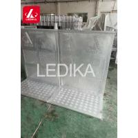 China Aluminum Oval Tube Folding Stage Crowd Safety Barriers Closed Or With Door wholesale