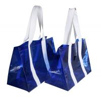 China PVC Reusable Transparent Fabric Carrier Bags water proof for shopping wholesale