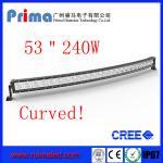 "China 53"" 240W Curved Led Light bar-Cree Single Row Led Light Bar wholesale"