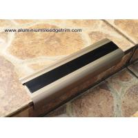 China Anodised Matt Champagne Aluminum Metal Stair Nose Moulding 35mm x 55mm  TL30 wholesale