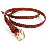 China Sell jeans pants dress trousers genuine leather strap weaving braiding belts wholesale