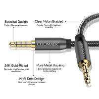 Buy cheap 3.5 jack audio cable 3.5mmAUX cable cable car auxiliary line 4 pole connectable from wholesalers