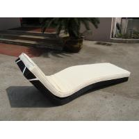 China Hotel Park Strong Brown Sunlounger With Power Coated Aluminum Frame wholesale