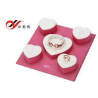 China Pink Jewelry Display Props PU Leather Material For Jewelry Display Free Sample wholesale
