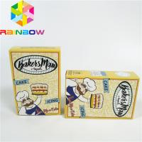 China Eco-friendly custom printed white cardboard packaging box kraft paper butter chips/food cookies/gift foldable display pa on sale