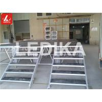 Buy cheap With Stair Disassembly Aluminum Staging Platform Performance Plywood 750kg / M2 from wholesalers