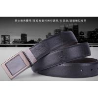 China Reversible Plate Buckle Coated Leather Belt In Black Color And Dark Brown Color wholesale