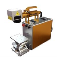 China 100X100MM Portable Laser Engraving Machine For Stainless Steel , Laser Marking Device wholesale