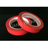 China Heat Resistance Red Polyester Mylar Tape For Wrapping Coils / Capacitors / Wire Harnesses wholesale