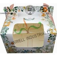 China Recycled White Cardboard Cake Packaging Boxes With Lids Full CMYK Printing wholesale