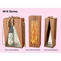China Promotion Wooden Gift Boxes For Wine Packaging With Offset Print Logo wholesale