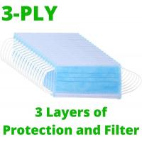 China Cheap 3 Ply Non-woven Dental Clinic Surgical Face Mask Earloop wholesale