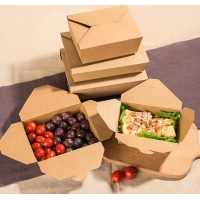 China Food Grade Disposable PE Coated Packaging Cardboard Lunch Box wholesale