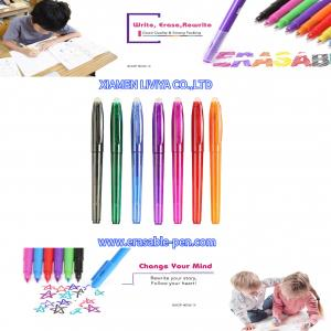 China Plastic Tube Multicolor Disappearing Ink Erasable Ink Pens wholesale