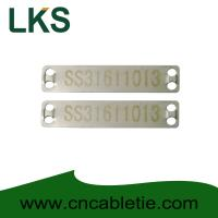 China Stainless 316 90mm x 19mm x 0.5mm cable tag(Laser cable tag) wholesale