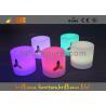China LED Round Bar Stools Glowing Furniture , Modern Bar Furniture wholesale