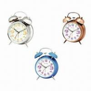 China Twin bell alarm clocks, measures 11.5x6x17cm wholesale