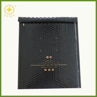 China Customized printing black shiny colored metallic foil bubble mailer for books packaging on sale