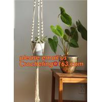 China Wholesale 2 Pack Plant Hanger with Ring Jute 4 Leg 43.5 Inches for Indoor Outdoor Ceiling Deck Balcony Round and Square wholesale