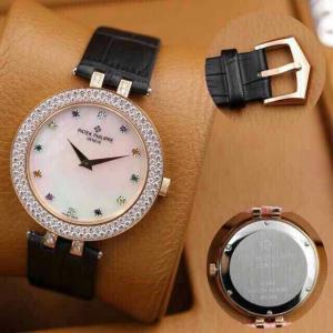 China 04-2014 patek philippe leather band watch on sale
