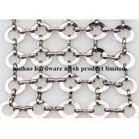 China Stainless Steel Chainmail Ring Decorative Wire Mesh for Fly Screen Curtain wholesale