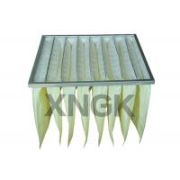 China Synthetic Media Pocket Air Filter  V Shape Galvanized Steel Frame wholesale