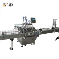 China High Accuracy Automatic Oil Filling Machine Touch Screen PLC Control wholesale