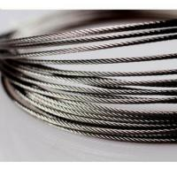 China Hot sale Steel Wire Rope diameter 1.0mm~4.0mm structure 1x7 1x12 1x19 7x7 wholesale